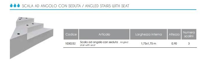 Gallery of scala sottoliner per piscina interrata angolare - Larghezza scala interna ...