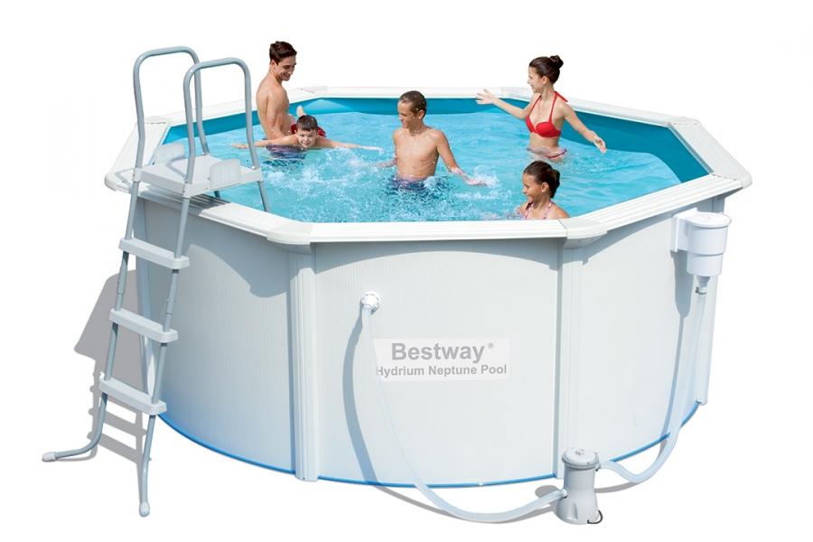 56571 bestway piscina fuoriterra hydrium 360x120 con for Bestway piscine e accessori