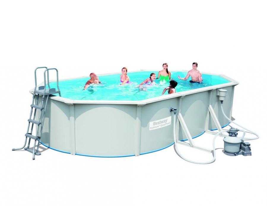 56369 bestway piscina fuoriterra hydrium 610x360x120 cm for Bestway piscine e accessori