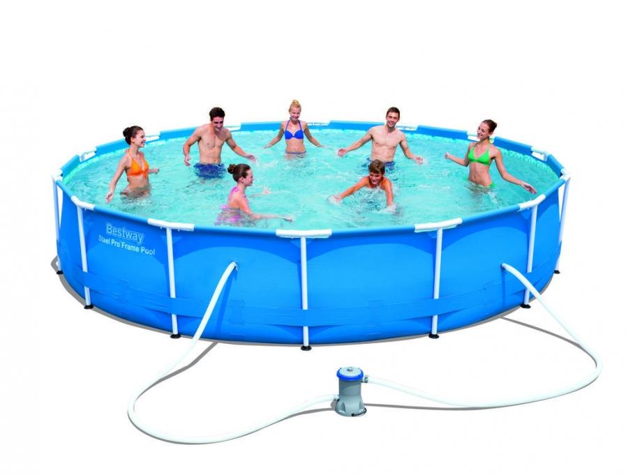 56595 piscina bestway rotonda 427x84 steel pro frame con - Piscina bestway rotonda ...