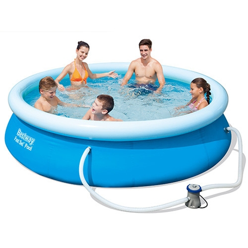 57270 piscina bestway rotonda 305x76 fast set con filtro - Piscina bestway rotonda ...